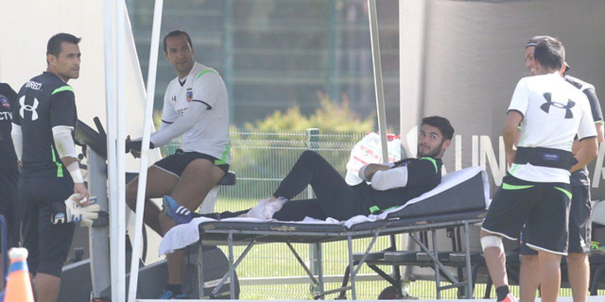 Colo Colo pierde por lesión a jugador a horas del partido ante Santa Fe