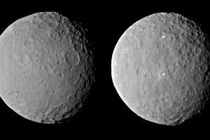 Ceres, que es el cuerpo más grande que existe entre Marte y Júpiter en el cinturón de asteroides principal, tiene un diámetro de alrededor de 950 kilómetros Foto:Nasa.gov. Imagen Por: