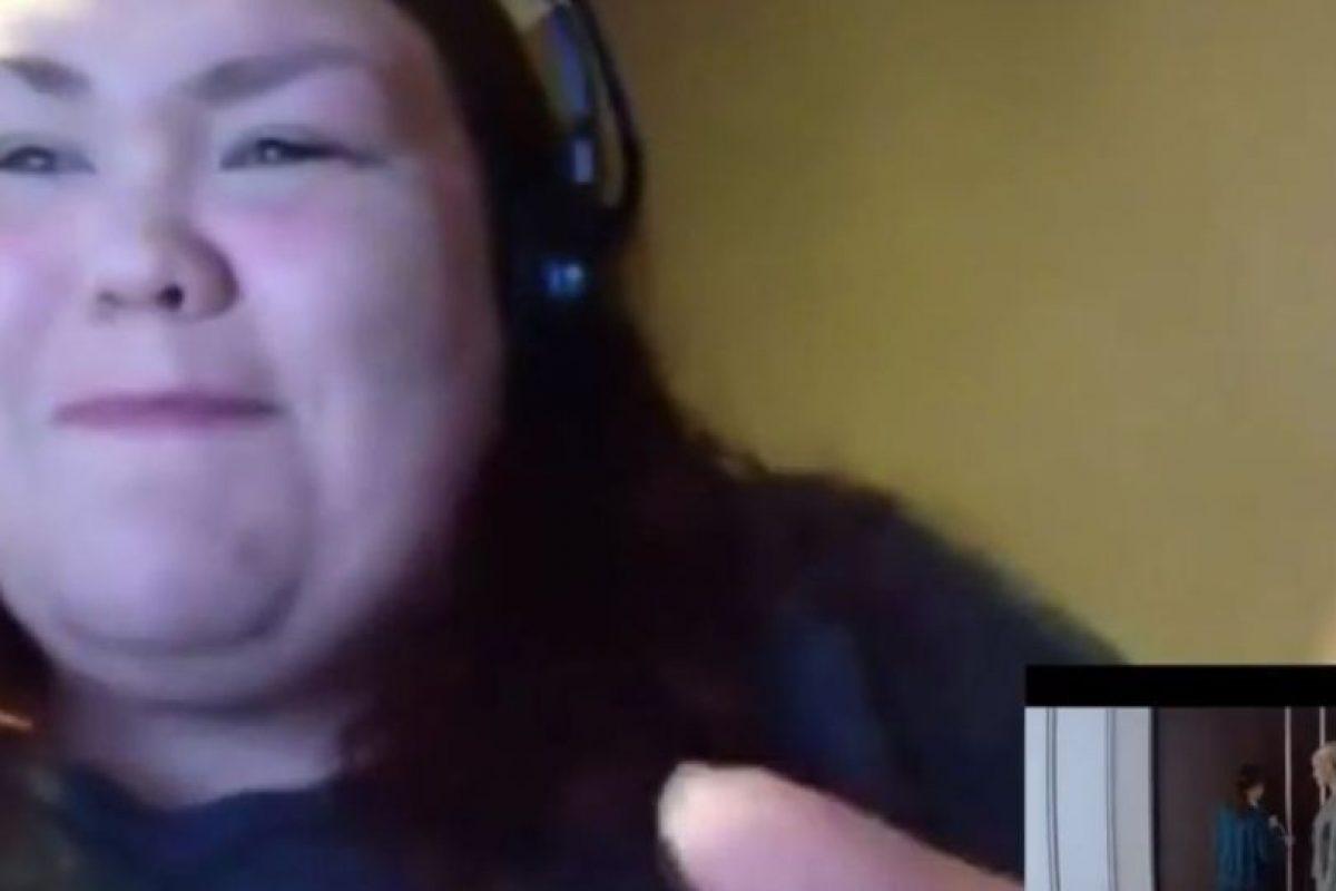 """Ella posteó un video de su desenfrenada reacción ante el tráiler de """"50 sombras de Grey"""" Foto:NuttyMadam/Youtube. Imagen Por:"""