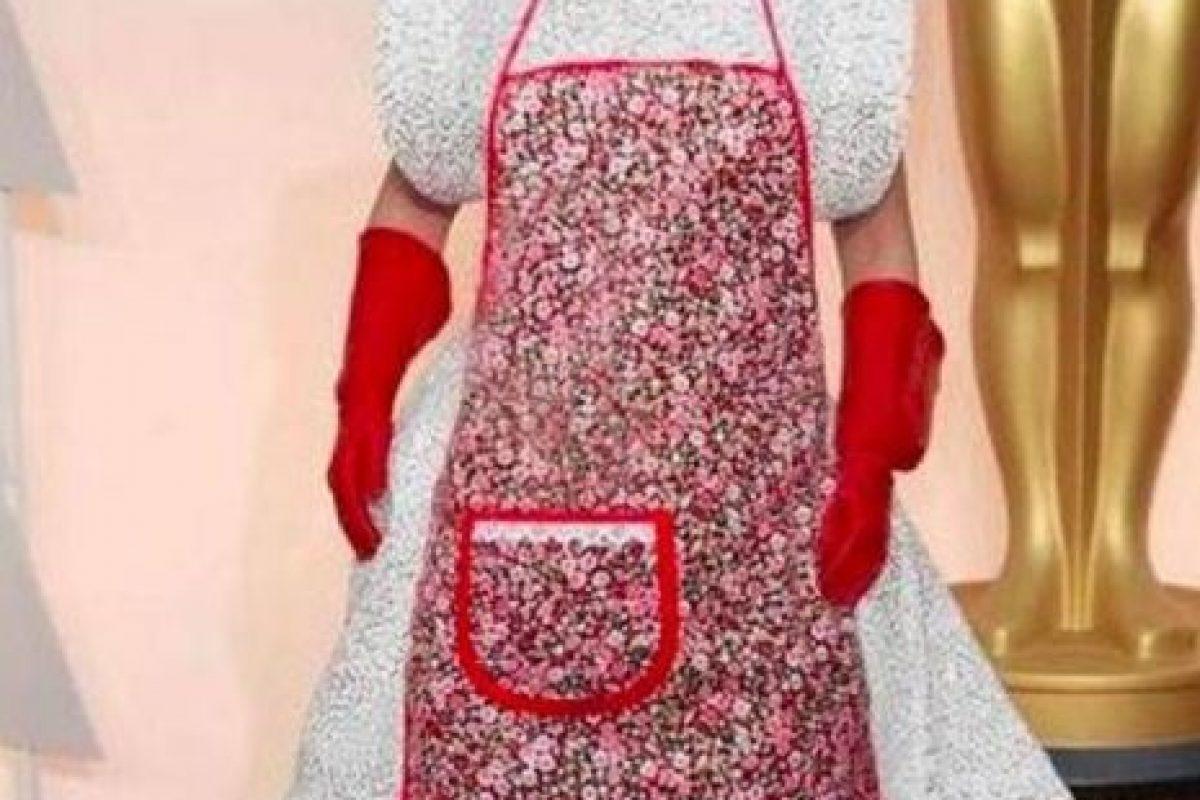 El vestido de Lady Gaga en los Oscar de este año dio para todo tipo de memes Foto:Twitter. Imagen Por: