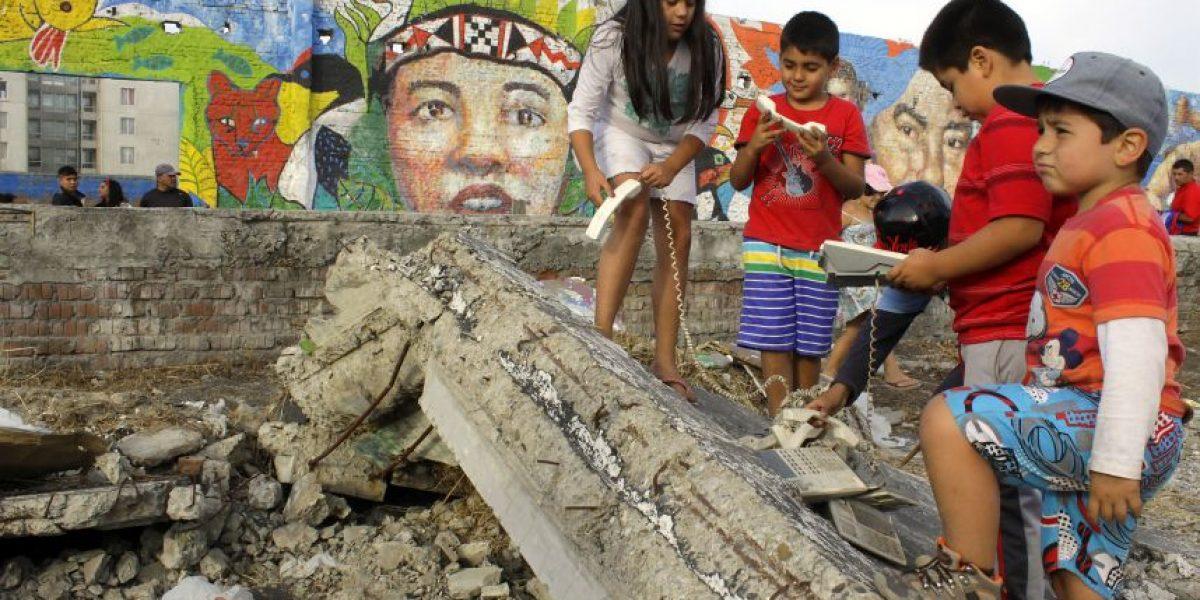 Fotos: Con mural Talcahuano conmemoró quinto aniversario del 27F