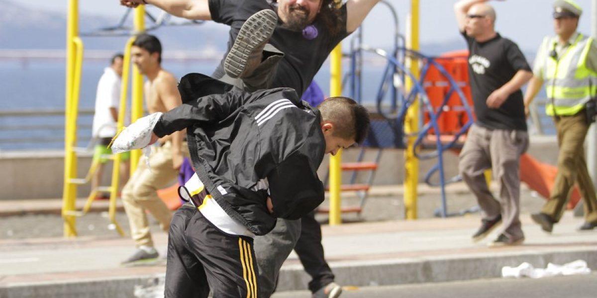 Con serios incidentes terminó partido amistoso de fútbol playa entre Concepción y Vial