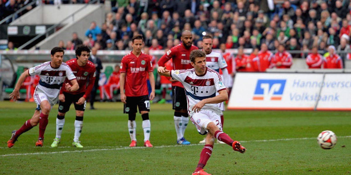 La marca de Miiko a Robben no le bastó al Hannover y cayó ante el Bayern