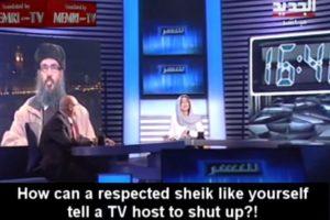 """Ella le pidió respeto: """"¿Cómo es posible que un sheik respetado le diga eso a un presentador de Televisión? Foto:Memri TV/Youtube. Imagen Por:"""