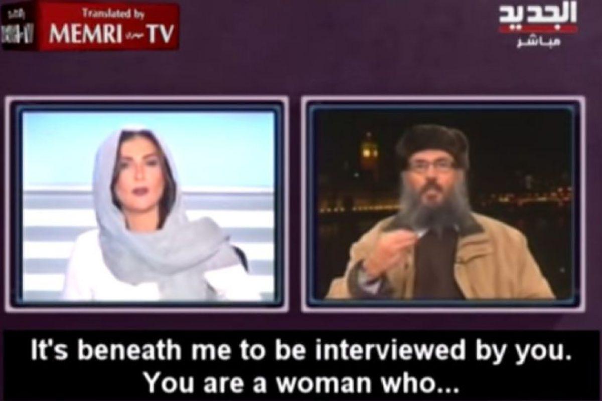 """Él le dijo: """"Es usted una mujer"""" Foto:Memri TV/Youtube. Imagen Por:"""