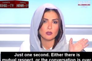 Ella cortó su transmisión de inmediato y dijo que se merecía respeto. Ahora es alabada por su gesto. Foto:Memri TV/Youtube. Imagen Por:
