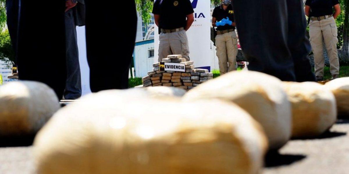 La PDI de Calama decomisó más de 150 kilos de droga y capturó a dos chilenos y cuatro bolivianos