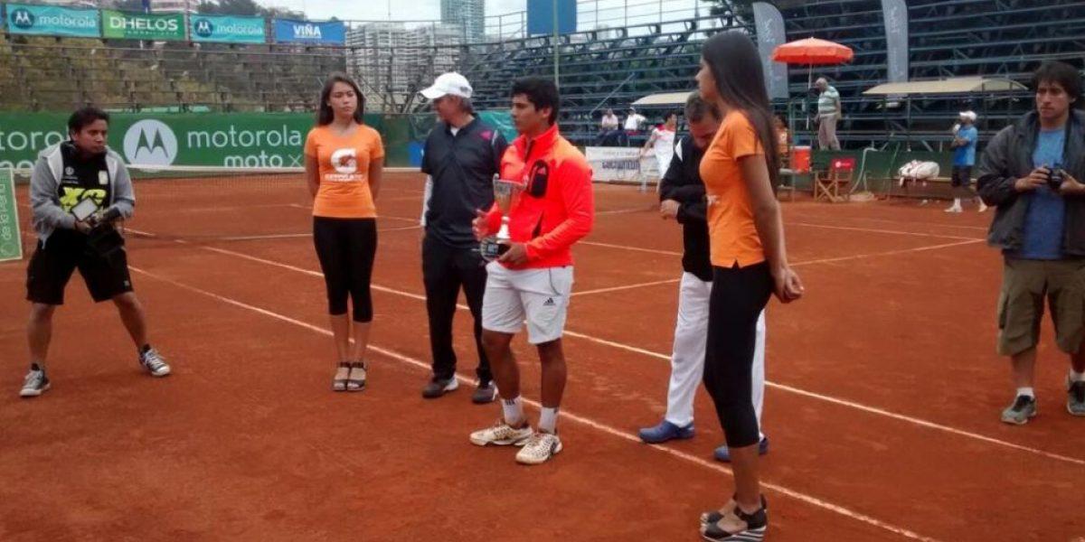 Bastián Malla fue el tenista chileno que registró el mayor ascenso en el ranking ATP