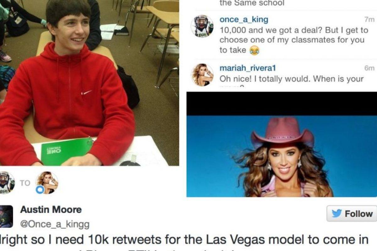Lo logró, pero a pesar de eso, no puede ir con Mariah. Foto:Twitter. Imagen Por: