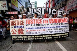Ahora, Erwiana y diversas organizaciones pelean por una regulación en la ley de las trabajadoras. Foto:Getty Images. Imagen Por: