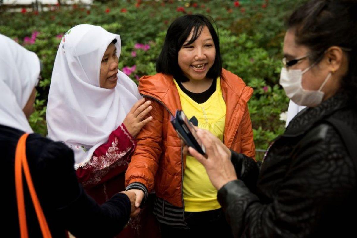 """En abril de 2014, Erwiana se convirtió en una de las 100 personas más influyentes según la revista """"Time"""" Foto:AFP. Imagen Por:"""