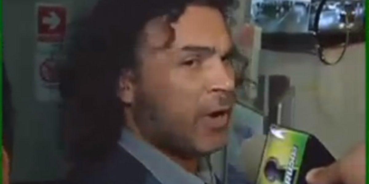 Arturo Ruiz-Tagle vive día de furia con notero de farándula