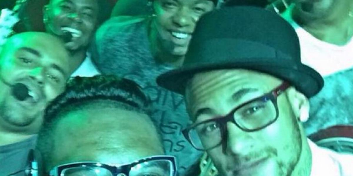 Neymar se robó la película en mega carrete de su hermana