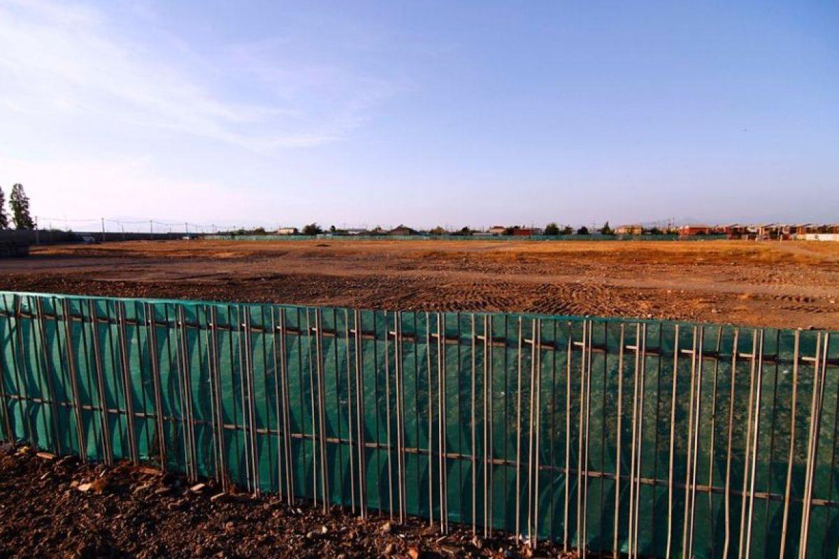 Los terrenos donde va a estar emplazado el hospital de Puente Alto. Foto:Agencia UNO. Imagen Por: