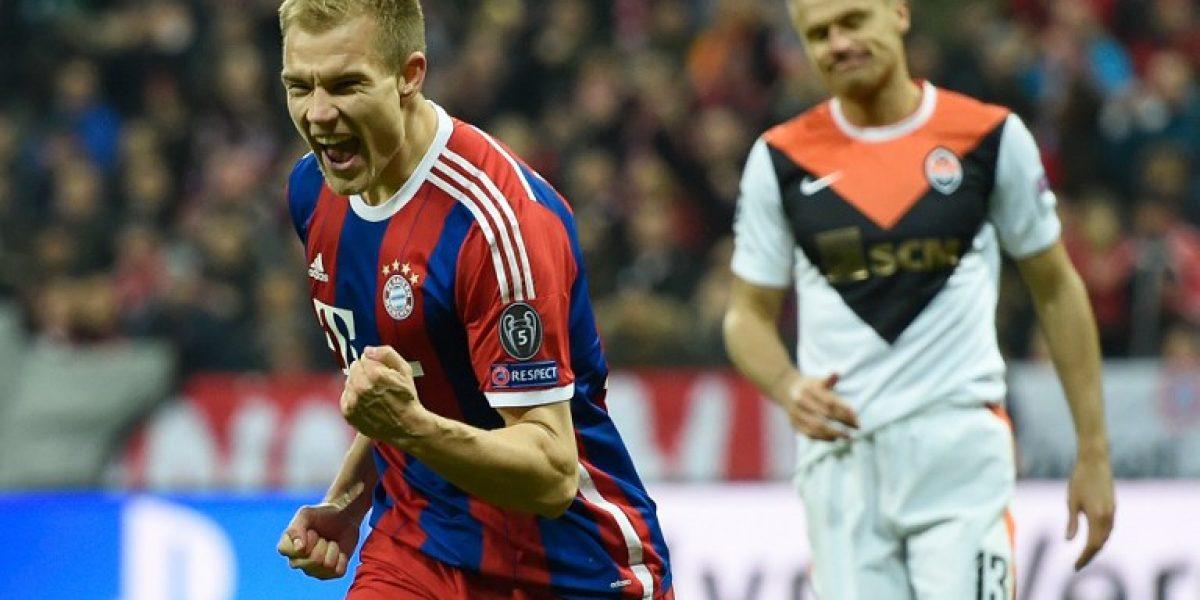 Sin piedad: El Bayern aplastó al Shakhtar por 7-0 y ya está en cuartos