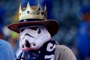 Un fanático en la Serie Mundial de béisbol, en Estados Unidos Foto:Getty Images. Imagen Por: