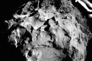 Philae aterrizando en el cometa 67P/Churyumov-Gerasimenko. Foto:Getty Images. Imagen Por: