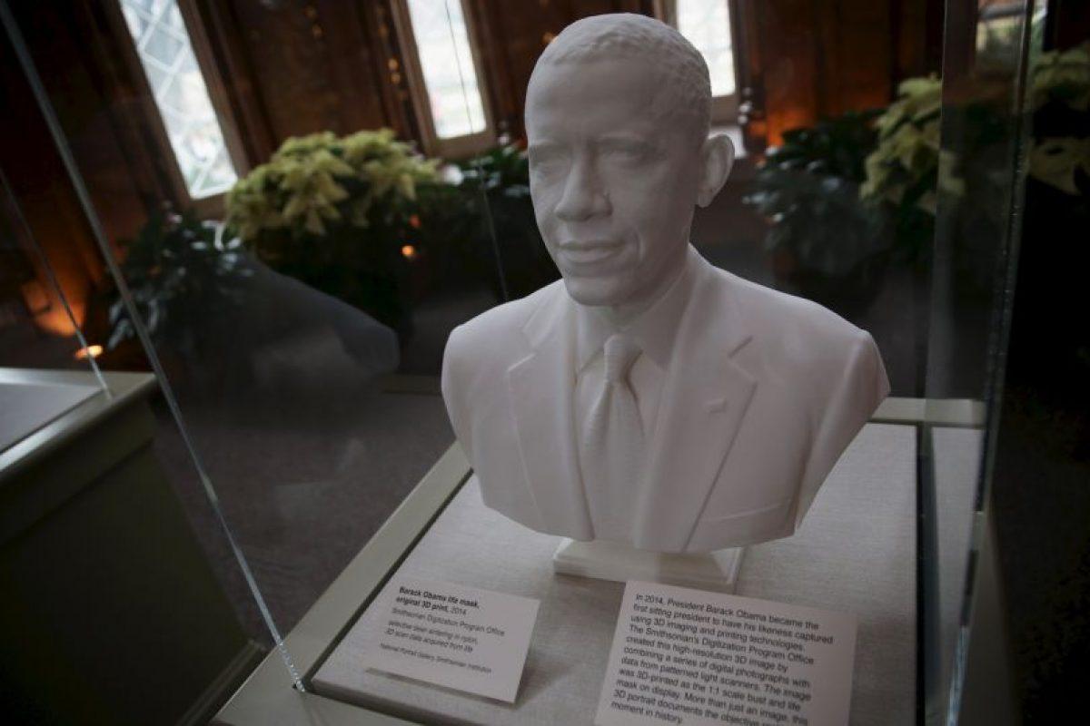 El busto de Barack Obama, que se encuentra en exhibido en la Casa Blanca Foto:Getty Images. Imagen Por: