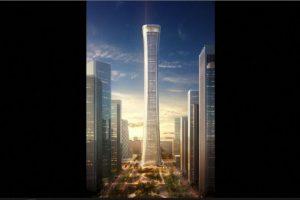10. Zhongguo Zun (China) – 108 pisos – 538 metros (1732 pies) de altura. Foto:Kohn Pedersen – Skyscrapercenter.com. Imagen Por: