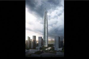 4. Wuhan Greenland Centre en China – 125 pisos – 636 metros (2087 pies) Foto:Adrian Smith + Gordon Gill Architecture – Skyscrapercenter.com. Imagen Por:
