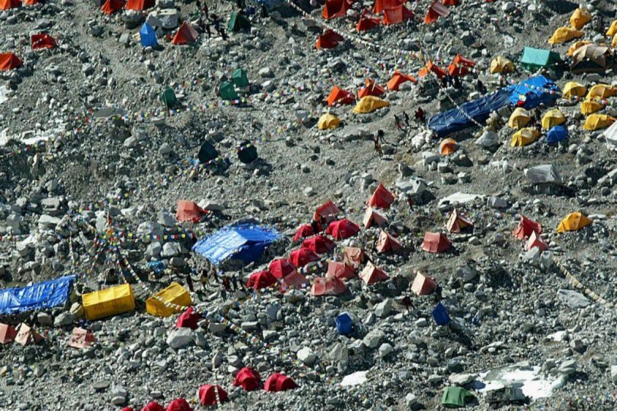 Campamento en las faldas de Everest. Foto:Getty Images. Imagen Por: