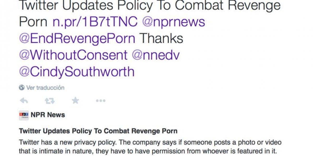 Twitter se une a la prohibición de pornografía por venganza en la red