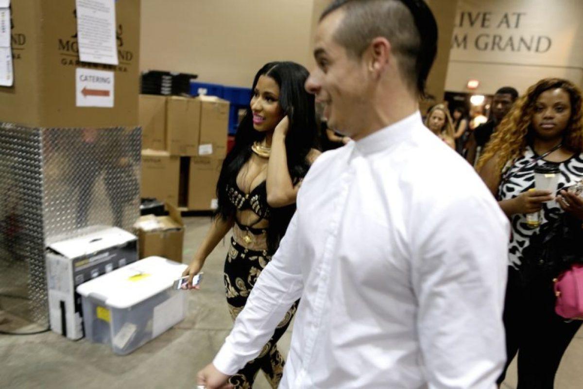 Nicki Minaj y Casper Smart Foto: Getty Images. Imagen Por: