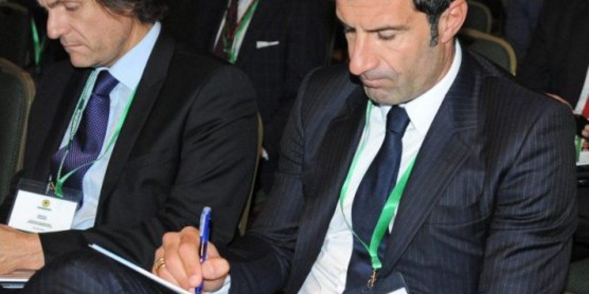 Ex jugadores del Real Madrid muestran su apoyo a Figo para liderar la FIFA