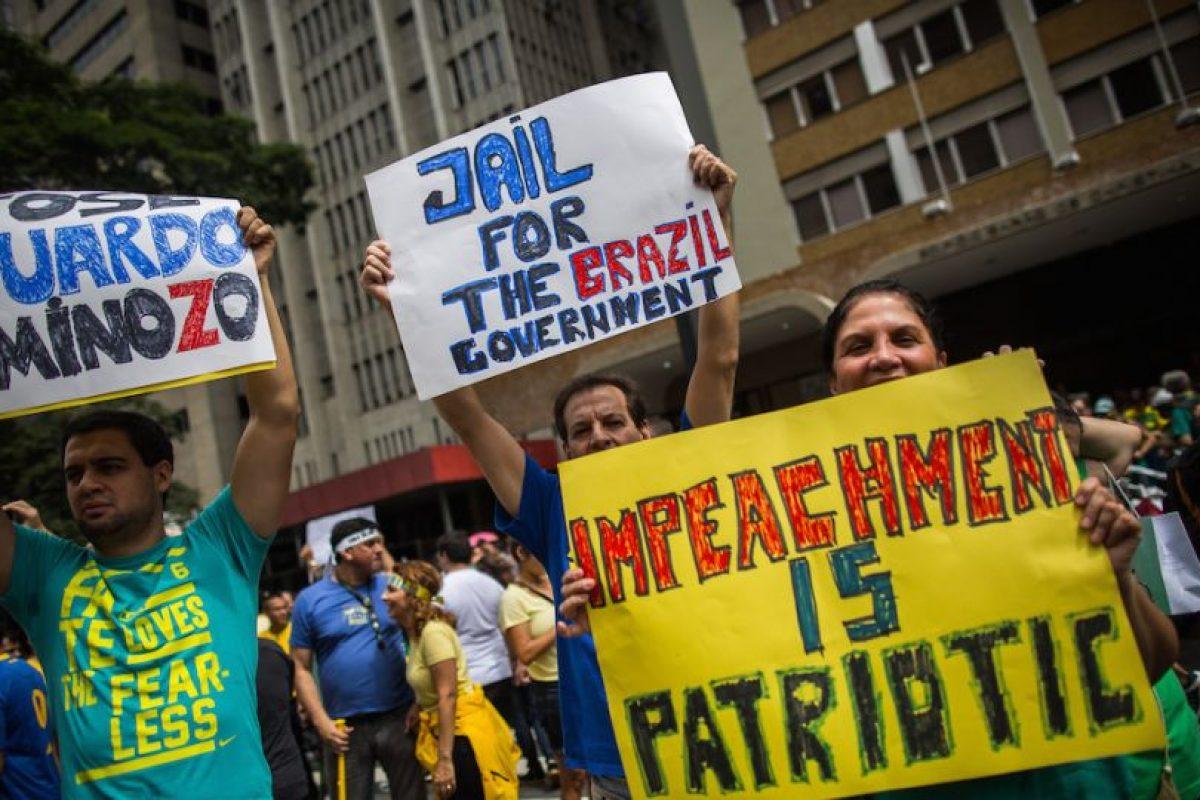 Exigen la destitución de la presidenta Dilma Rousseff y su gobierno. Foto:Getty Images. Imagen Por: