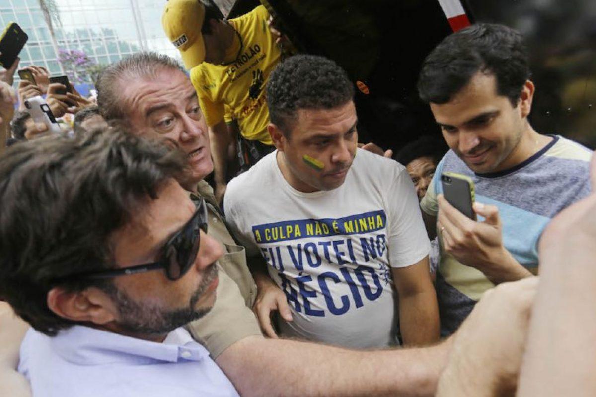 Ronaldo salió a las calles de Sao Paulo. Foto:AP. Imagen Por: