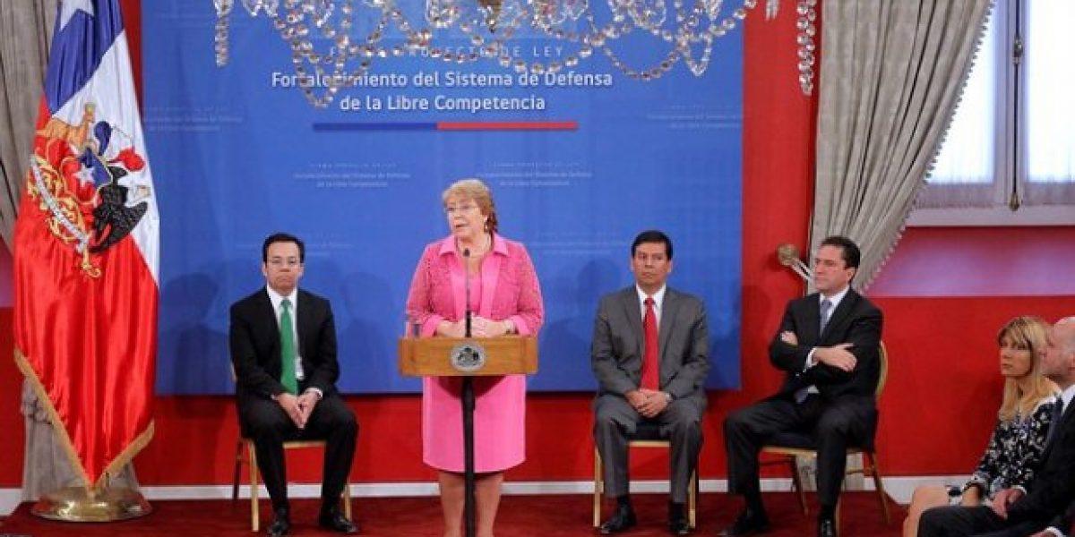Bachelet firma Proyecto de Ley para fortalecer la defensa de la Libre Competencia