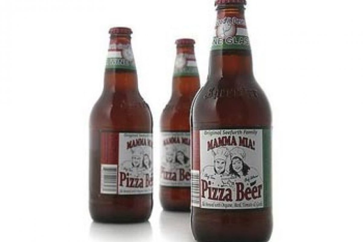 6. Pizza Beer. Tiene sabor a tomate y ajo. Está disponible en el estado de Illinois, Estados Unidos.. Imagen Por: