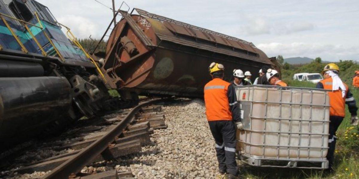 Tren de carga sufre descarrilamiento en Parque Industrial de San Bernardo