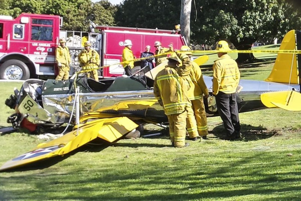 El accidente que tuvo Harrison Ford fue causado por la pérdida de fuerza del motor. Foto:Getty. Imagen Por: