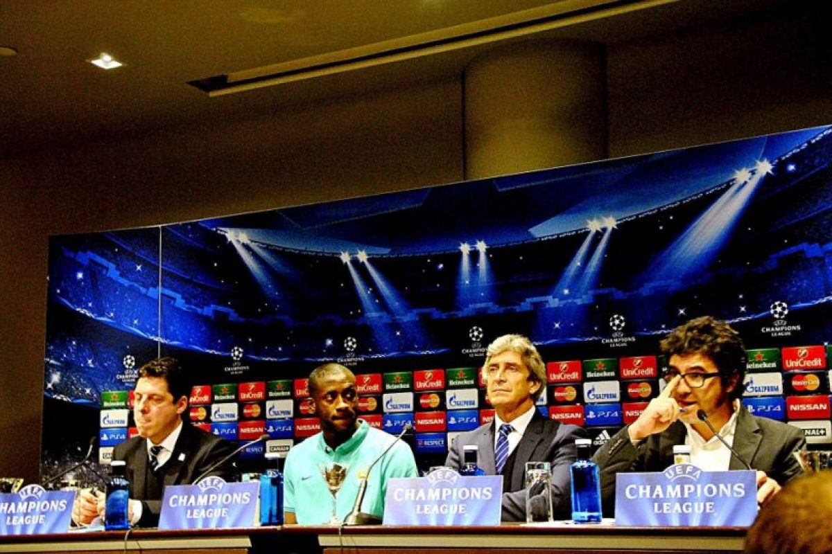La comitiva del Manchester City. Foto:Ramón Mompió. Imagen Por: