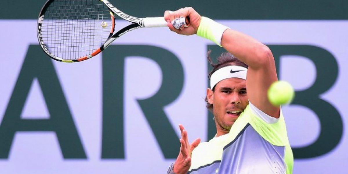 Nadal arrolla a Simon y se instala en cuartos de final de Indian Wells