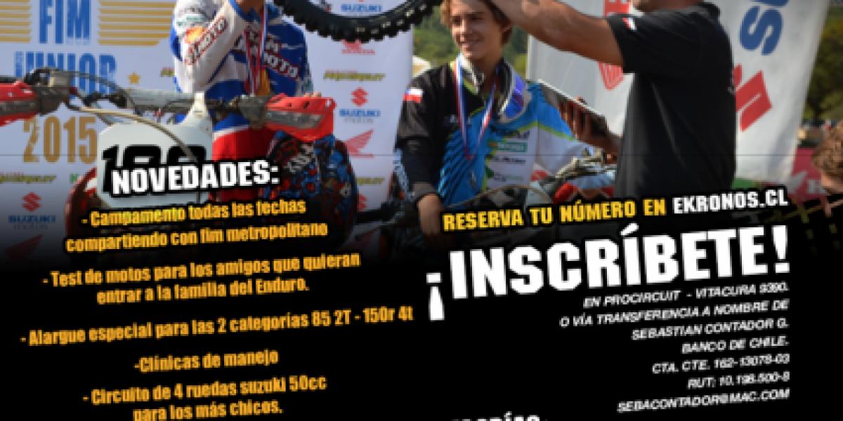 A correr de nuevo: las fechas de inicio del Campeonato Metropolitano FIM 2015 y FIM Junior