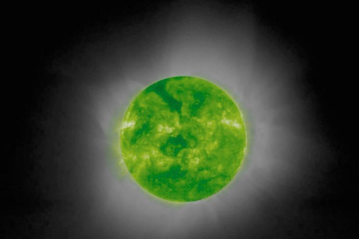 Esta es una foto cromática del sol durante un eclipse solar. Foto:Getty. Imagen Por: