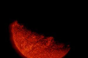 Acercamiento del eclipse solar desde el espacio. Foto:Vía http://www.nasa.gov/. Imagen Por: