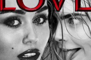 """8.- Ursurpó el puesto de Kim en esta portada de la revista """"Love"""" Foto:Instagram @mileycyrus. Imagen Por:"""