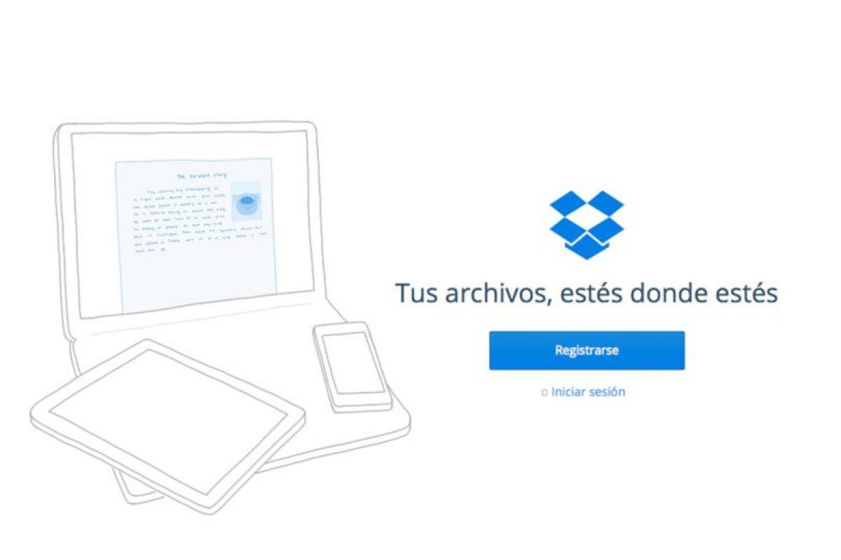 Dropbox es la opción más conocida de almacenamiento en al nube, pero no es la única. Foto:https://dropbox.com/. Imagen Por: