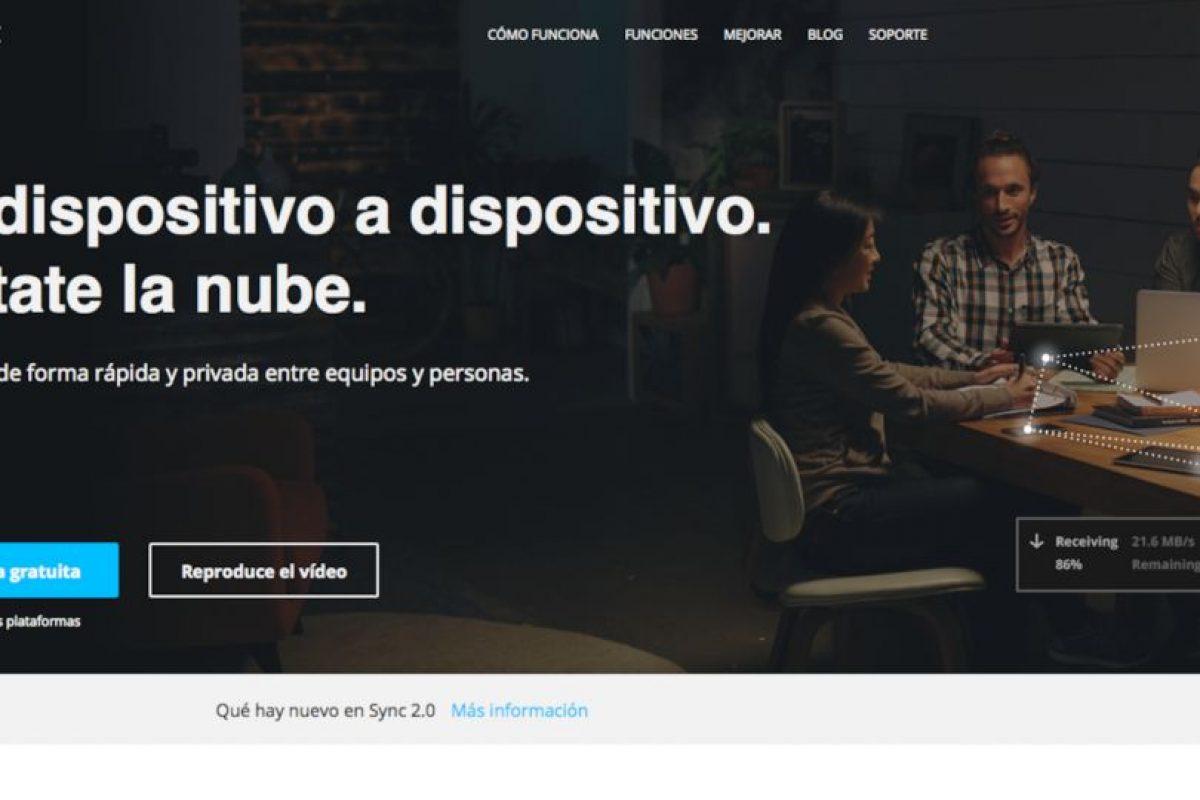 Sync es una alternativa que usa las redes sociales para su comodidad. Foto:https://www.getsync.com/intl/es/. Imagen Por: