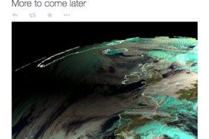 Meteosat hizo publicas las fotos del eclipse solar desde el espacio. Foto:Twitter @eumetsat_users. Imagen Por: