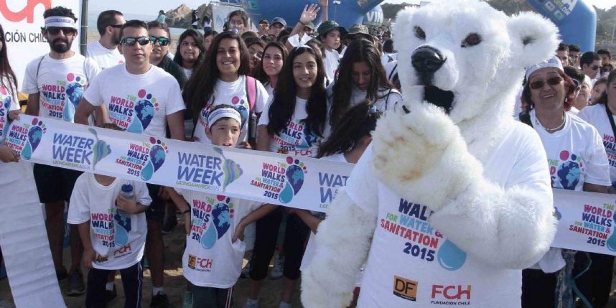 Así fueron las caminatas por el Día del Agua en Santiago y Viña del Agua
