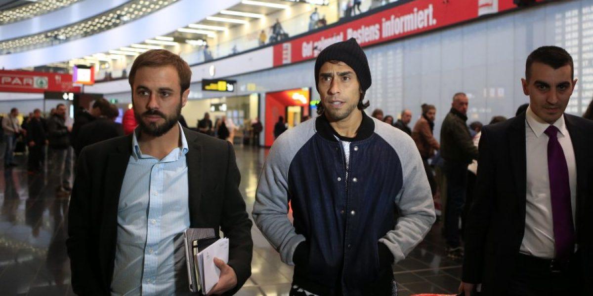 Jorge Valdivia arribó a Austria para unirse a los trabajos de la Selección