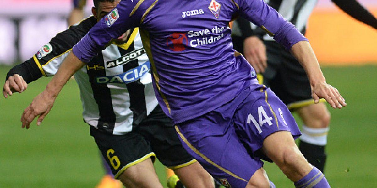 Fiorentina sale de la zona de clasificación a Europa al empatar ante Udinese