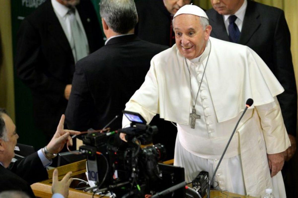 """2. """"¿Quién soy yo para juzgar a los gays?"""". Esto comentó en julio de 2013, marcando las bases de una posible nueva postura de la Iglesia Católica sobre la homosexualidad. Foto:AFP. Imagen Por:"""