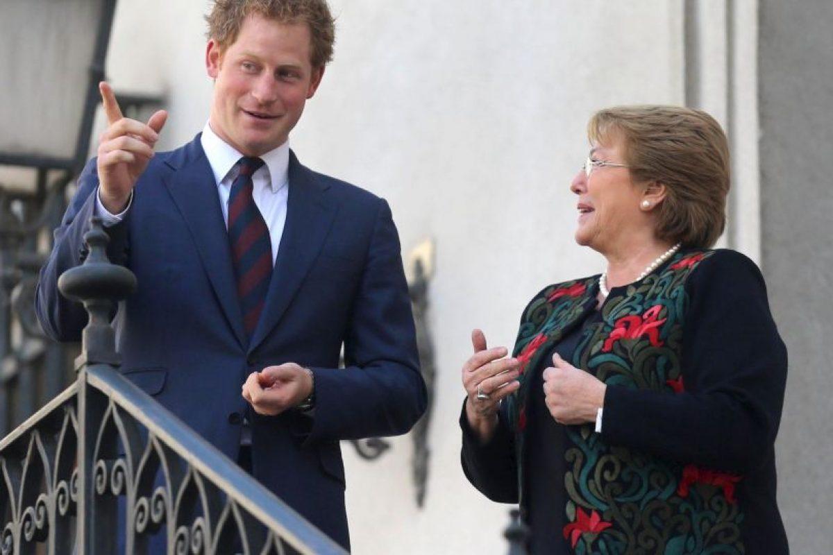 Con el príncipe Harry de Inglaterra Foto:Getty Images. Imagen Por: