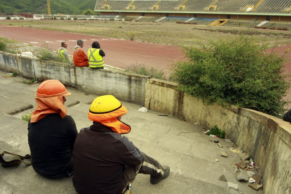 El estadio Ester Roa Rebolledo de Concepción, está considerado como sede de Copa América para recibir tres partidos, presenta poco más de un 70% de avance, cuando resta poco más de un mes para entregar las obras según el plazo establecido para la primera semana de mayo. Foto:Agencia UNO / Imagen Referencial. Imagen Por:
