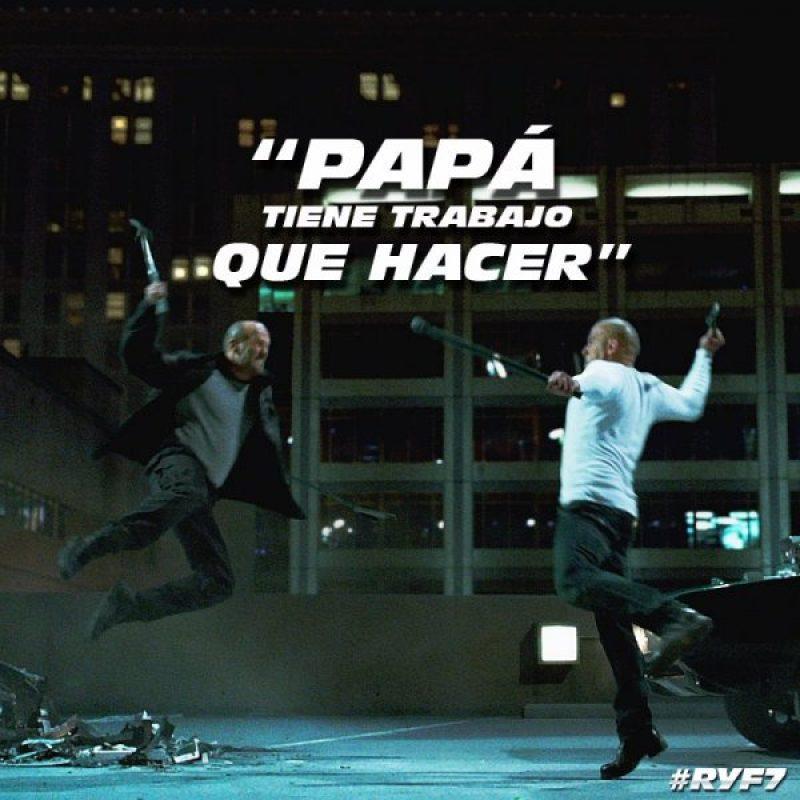 . Imagen Por: Facebook: Rápidos y Furiosos 7